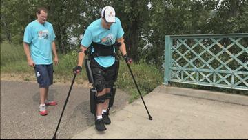 Cambridge man with paraplegia walks in 5K