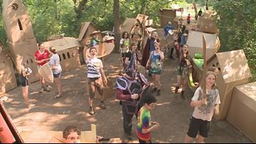 Exploring 'Adventures in Cardboard' camp