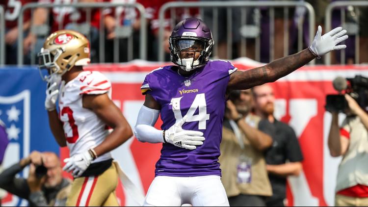 The Vikings won their regular season home opener against the 49ers, 24-16.