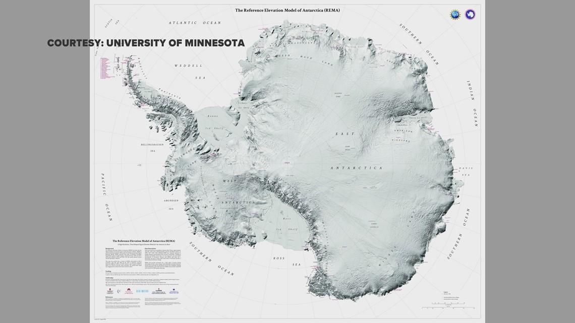 U Of Minnesota Map.U Of M Scientists Create First High Res Map Of Antarctica Kare11 Com
