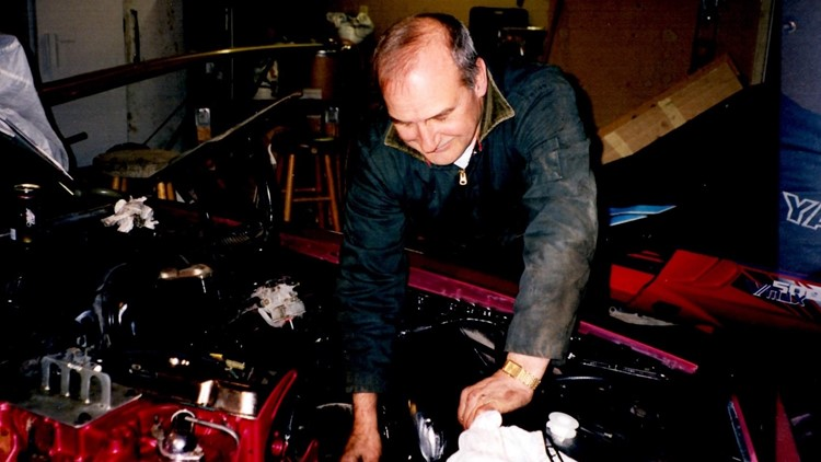 As a younger man, Bill Waldschmidt worked on classic cars in his shop