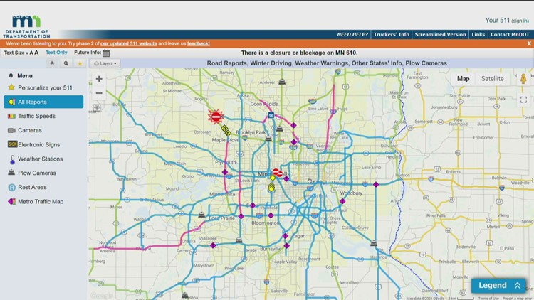 Serious crash closes Highway 610 in Maple Grove