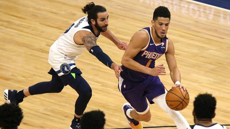 Booker scores 43 points, surging Suns beat T-wolves 118-99