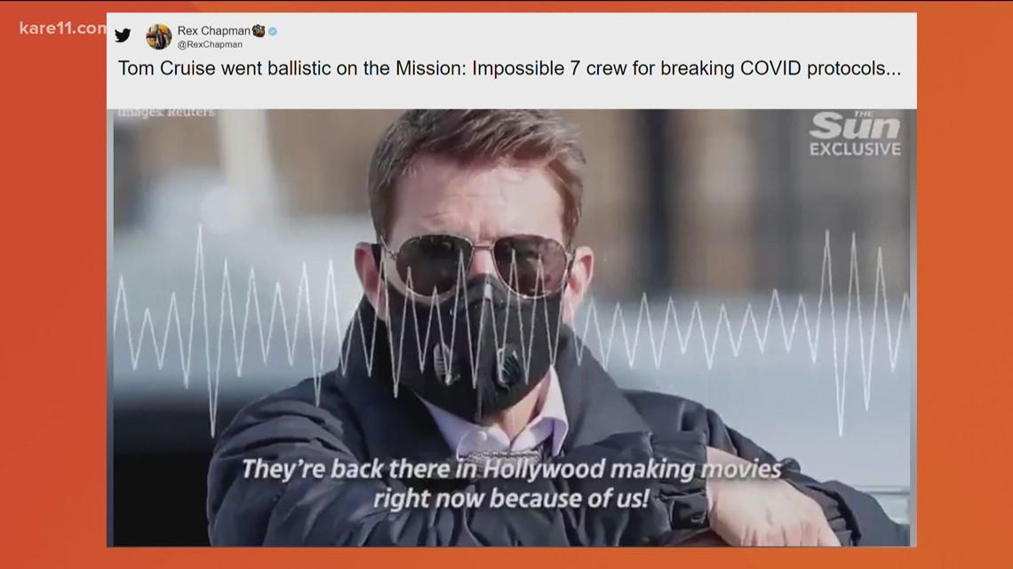 Leaked audio of Tom Cruise on set
