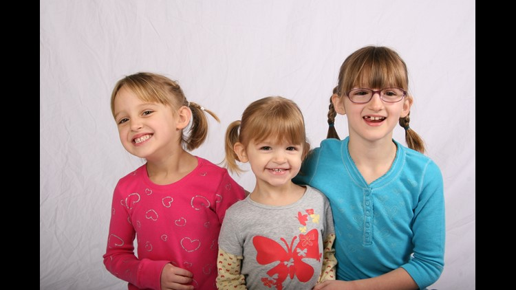 Sophie, Cecilia, and Amara (left to right) were 8, 5 and 11 when they were killed by their father
