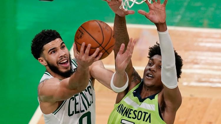 Tatum's career-high 53 help Celtics top T-Wolves 145-136
