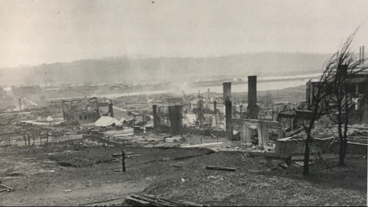 Cloquet burned to the ground in the 1918 fires