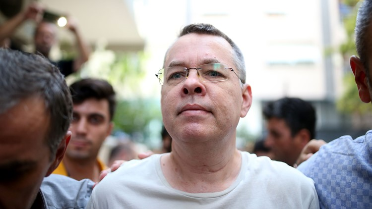 Andrew Brunson, 50, was accused of terror-related charges and espionage.