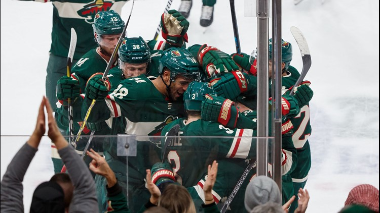 Zucker had two goals and an assist, including a breakaway backhander 3:25 into overtime. Zach Parise sent a long pass across the red line to a streaking Zucker, whose shot went between Cam Ward's pads to give the Wild (1-1-1) their first win of the season.