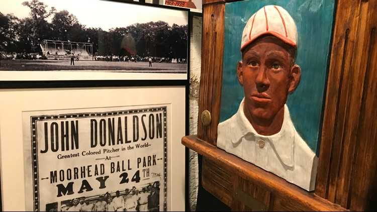 John Donaldson memorabilia on display in Pete Gorton's basement
