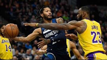 Wolves fend off LeBron, Lakers 124-120