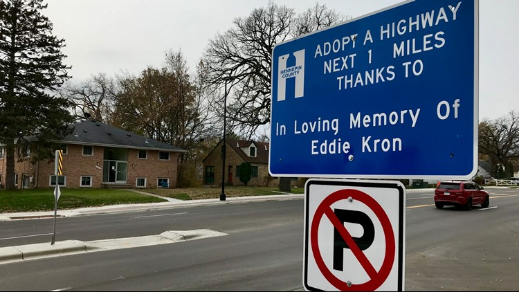 Adopt A Highway sign dedicated to Eddie Kron