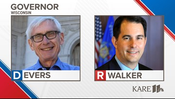 WI governor's race between Scott Walker and Tony Evers too close to call