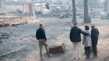 Death toll rises to 76 in California fire as President Trump visits