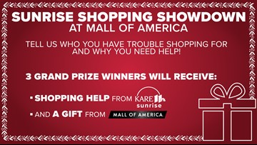 Sunrise Shopping Showdown: Let KARE 11 and MOA do your holiday shopping