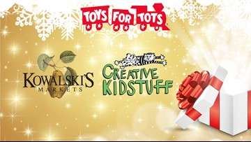 Get a Nickelodeon Universe Mystery Ticket when you drop off a toy at Kowalski's or Creative Kidstuff