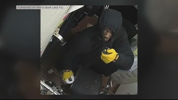 Serial business burglar sought in White Bear Lake
