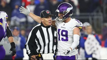 Vikings' Adam Thielen explains why he was shouting at Patriots coach Bill Belichick