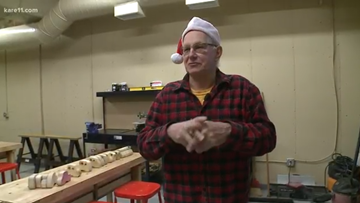 Retired carpenter and seniors build Christmas cars