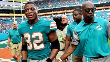 Dolphins stun Patriots with Kenyan Drake's last-second touchdown after two laterals