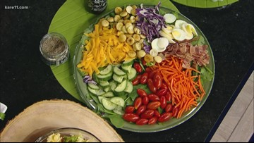Tasty summer salads with fresh dressing