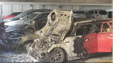 Fire destroys 2 vehicles inside Mpls. parking ramp