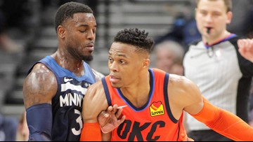 Westbrook's triple-double lifts Thunder past Wolves 132-126