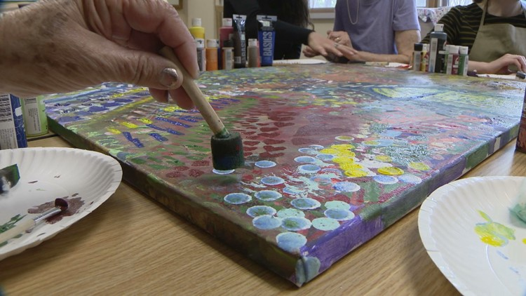 Open Circle painting