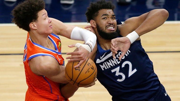 Thunder use 3-point barrage to beat Timberwolves