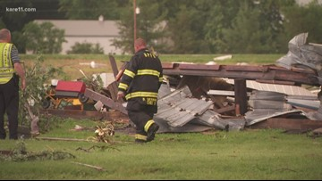 Storm causes damage at farm in Belle Plaine Township