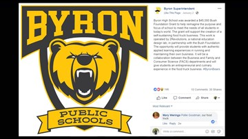 Byron High School gets $45K grant for food truck project