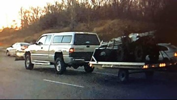 Crooks steal truck, use it to tow stolen trailer