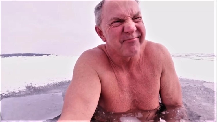 Minnesotan's streak of swimming every day in Lake Superior is threatened by cold snap ice-over