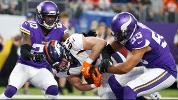 Vikings overcome 20-0 deficit at half to beat Broncos 27-23