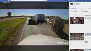 Dashcam captures violent chain-reaction crash | kare11 com