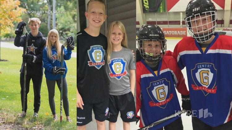 Sajevic siblings lead Gentry Academy to state in boys and girls hockey