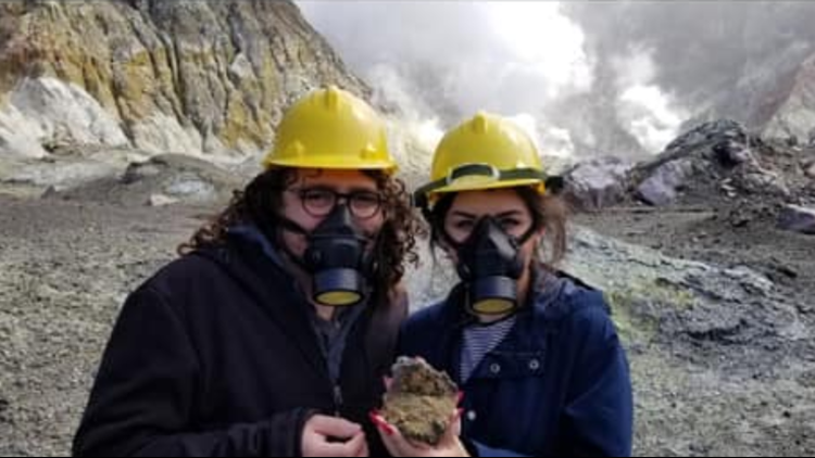 Ari Feblowitz and his wife on their visit to White Island Sept. 15, 2019.