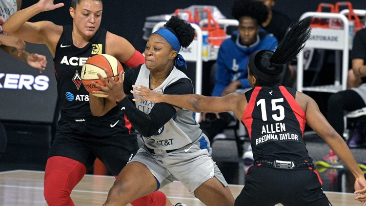 Aces make franchise-record 10 3s in victory over Lynx