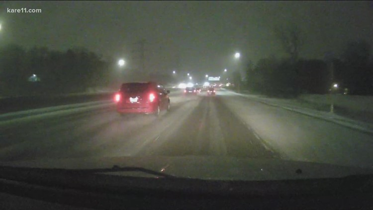 Much of the metro seeing icy road conditions