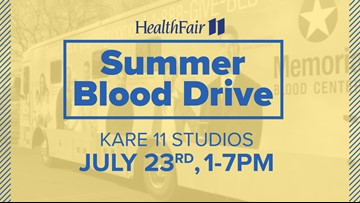 150+ donate blood at KARE 11 on July 23