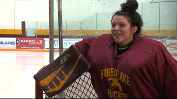 Forest Lake goalie has future goal in mind