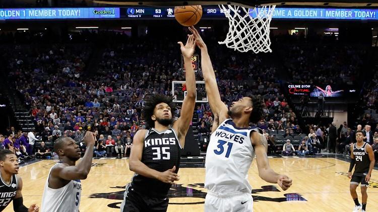 Timberwolves edge Kings in double OT to end 11-game losing streak