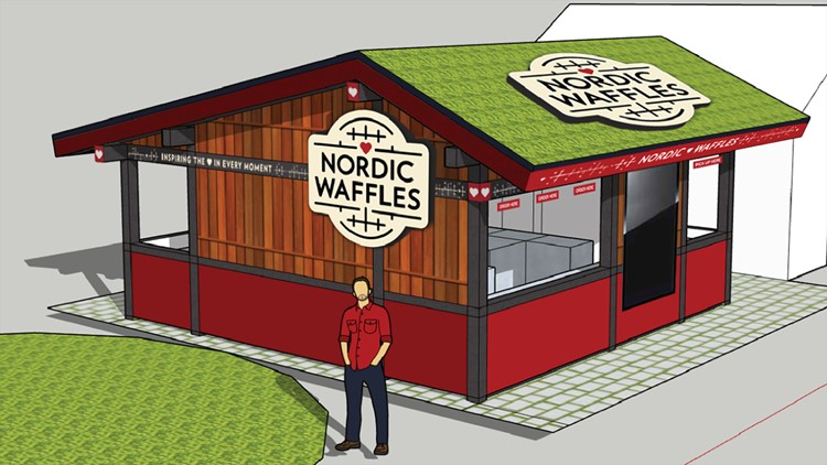 Nordic Waffles' booth will be located in the West End Market.