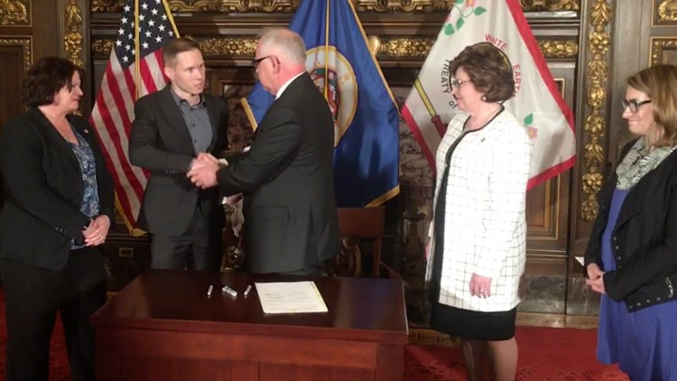Gov. Tim Walz signed reform legislation after a fatal light rail crash in which the operator was found at fault – but could not be charged under existing traffic laws.