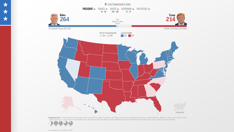 Why Electoral College results look different online and on TV