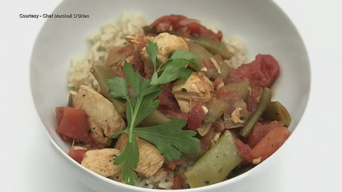 RECIPE: One-Pot Chicken with Green Beans and Tomatoes