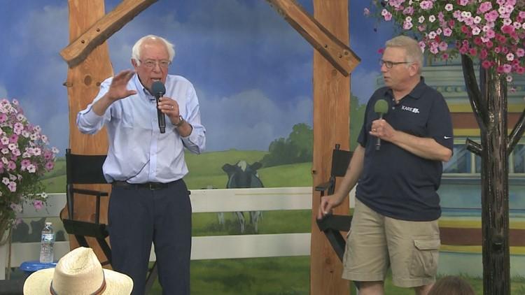 Bernie Sanders with Croman