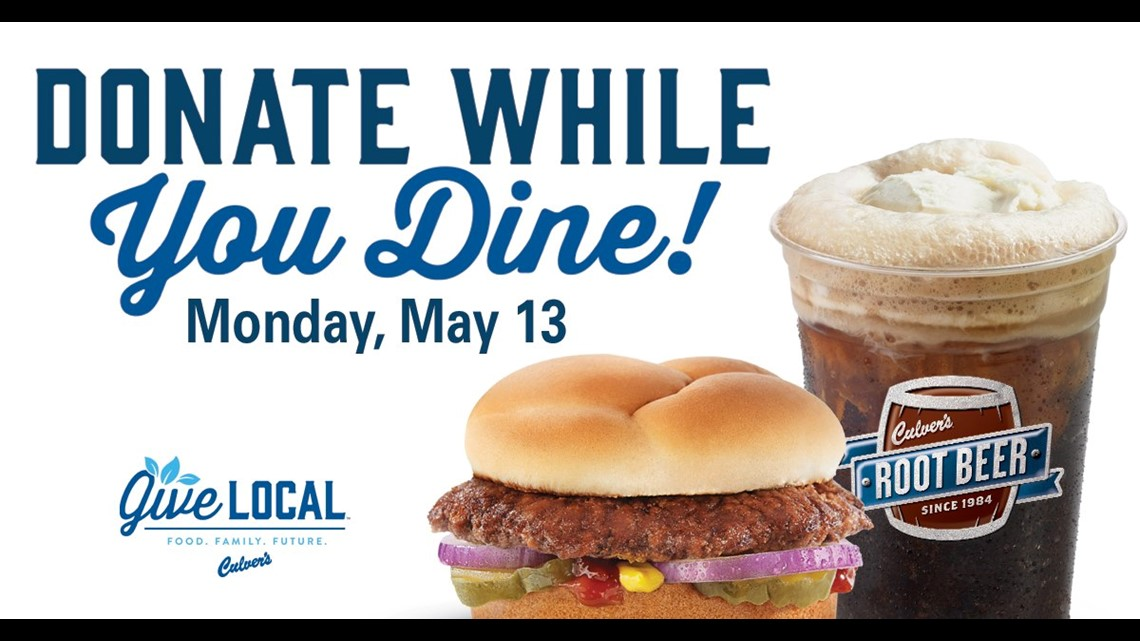 Go to Culver's on May 13 for Day of Giving