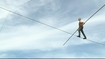 'Lord of the Wire' performing at St. Paul's Circus Juventas