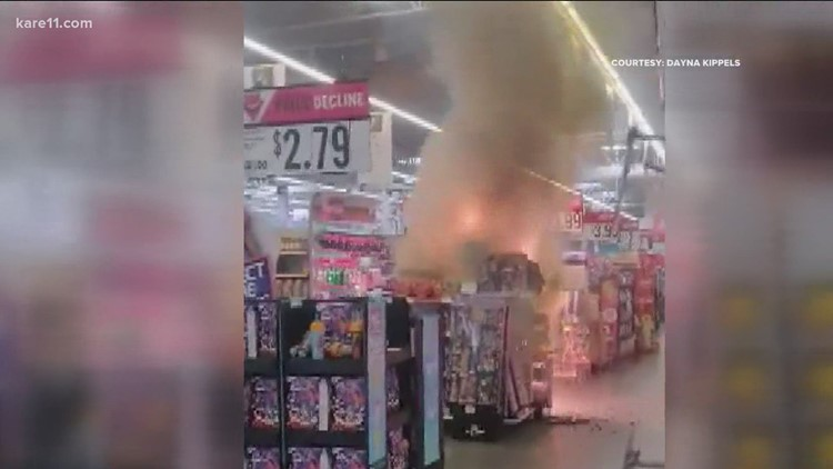 Police: Juveniles light fireworks display in Eagan Hy-Vee, cause fire